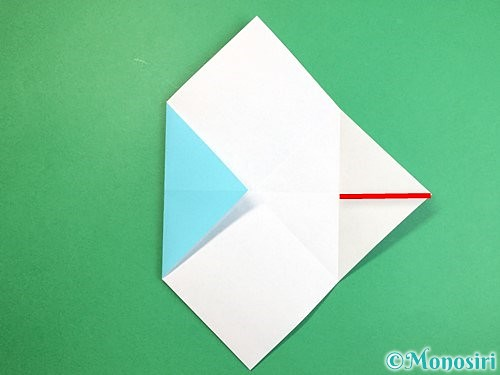 折り紙で魚の折り方手順9