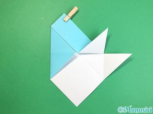 折り紙で魚の折り方手順13