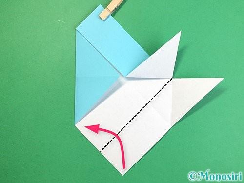 折り紙で魚の折り方手順14