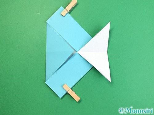 折り紙で魚の折り方手順17