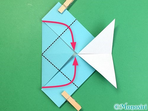 折り紙で魚の折り方手順18