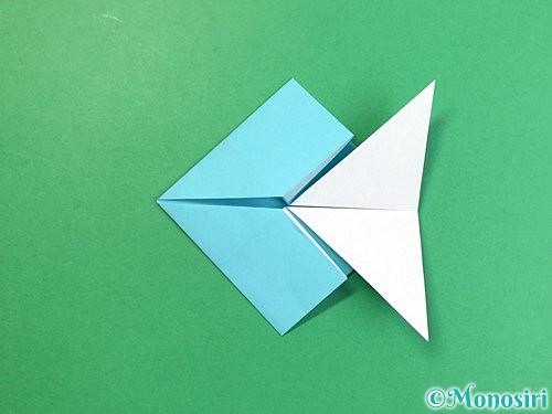 折り紙で魚の折り方手順19