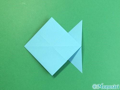 折り紙で魚の折り方手順20