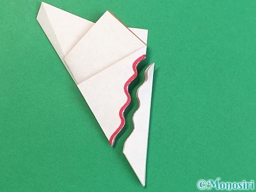 折り紙でヒトデの作り方手順16