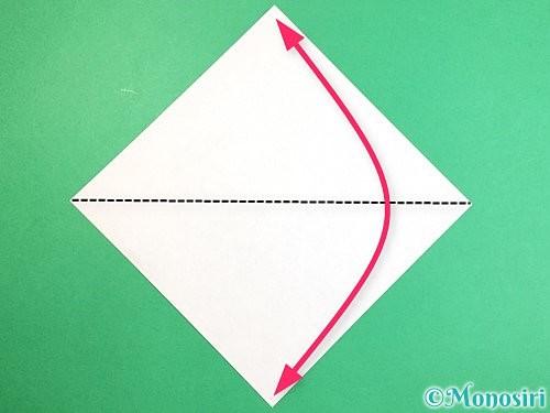 折り紙でアシカ(オットセイ)の折り方手順1