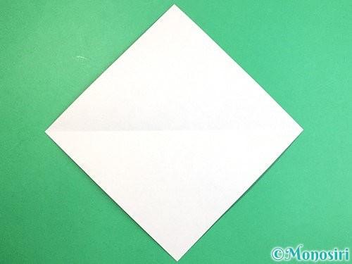 折り紙でアシカ(オットセイ)の折り方手順2