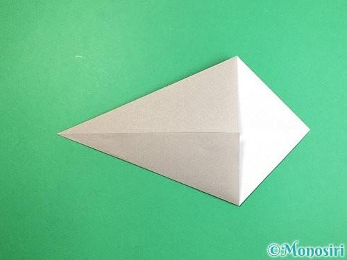 折り紙でアシカ(オットセイ)の折り方手順4