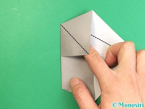 折り紙でアシカ(オットセイ)の折り方手順7