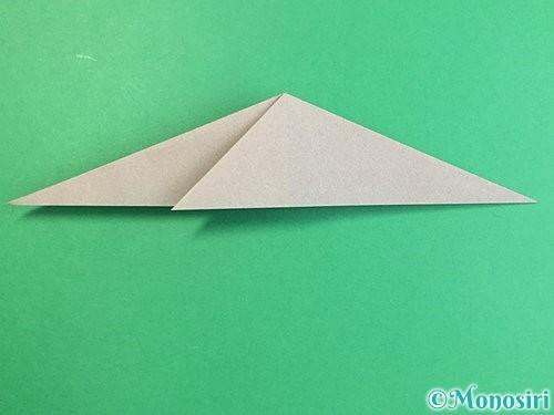折り紙でアシカ(オットセイ)の折り方手順14