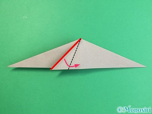 折り紙でアシカ(オットセイ)の折り方手順15