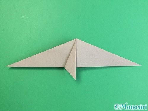 折り紙でアシカ(オットセイ)の折り方手順16