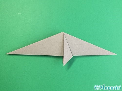 折り紙でアシカ(オットセイ)の折り方手順17