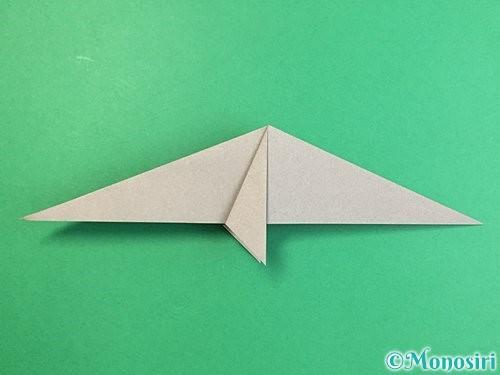 折り紙でアシカ(オットセイ)の折り方手順18