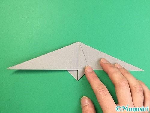 折り紙でアシカ(オットセイ)の折り方手順20