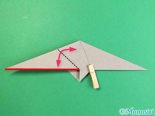 折り紙でアシカ(オットセイ)の折り方手順21