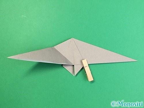 折り紙でアシカ(オットセイ)の折り方手順22