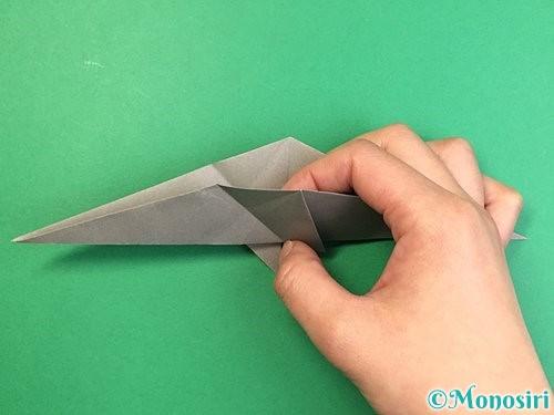 折り紙でアシカ(オットセイ)の折り方手順23