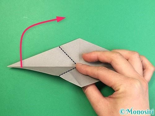 折り紙でアシカ(オットセイ)の折り方手順24