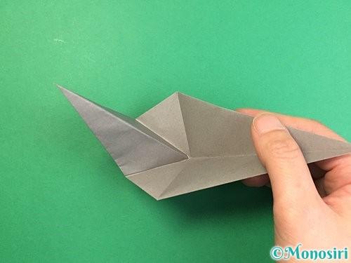 折り紙でアシカ(オットセイ)の折り方手順25