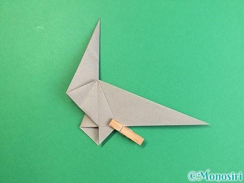 折り紙でアシカ(オットセイ)の折り方手順26