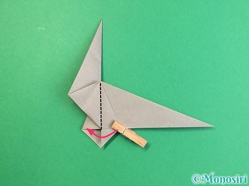 折り紙でアシカ(オットセイ)の折り方手順27