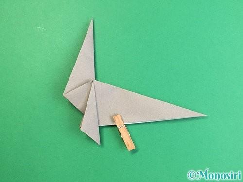 折り紙でアシカ(オットセイ)の折り方手順28