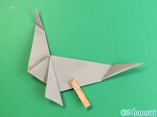 折り紙でアシカ(オットセイ)の折り方手順30