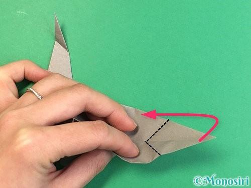 折り紙でアシカ(オットセイ)の折り方手順32