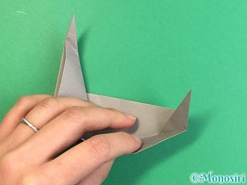 折り紙でアシカ(オットセイ)の折り方手順33