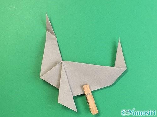 折り紙でアシカ(オットセイ)の折り方手順34
