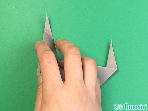折り紙でアシカ(オットセイ)の折り方手順35