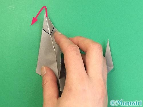 折り紙でアシカ(オットセイ)の折り方手順36
