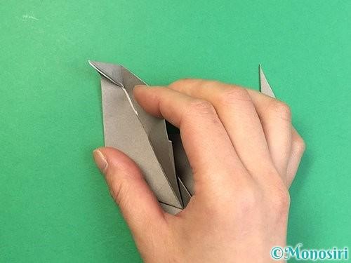 折り紙でアシカ(オットセイ)の折り方手順37