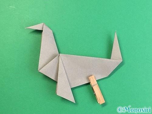折り紙でアシカ(オットセイ)の折り方手順38