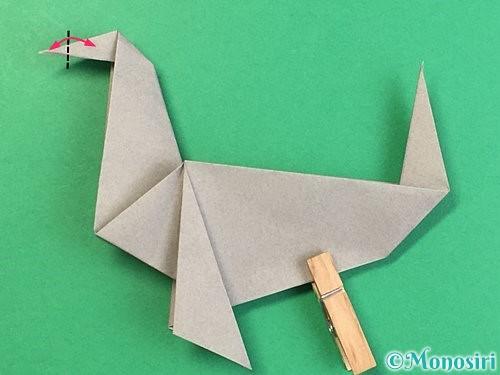 折り紙でアシカ(オットセイ)の折り方手順39