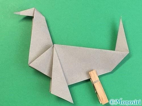折り紙でアシカ(オットセイ)の折り方手順40