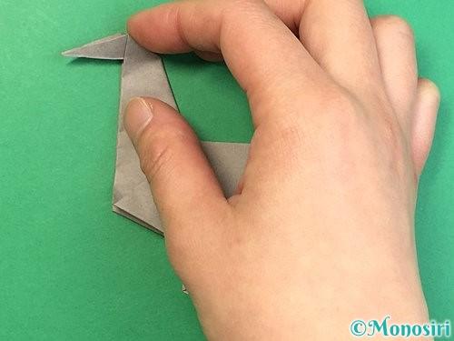 折り紙でアシカ(オットセイ)の折り方手順41