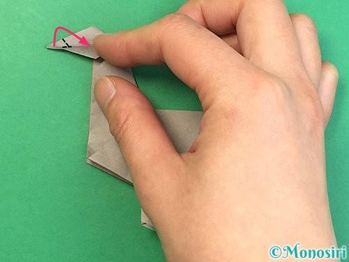 折り紙でアシカ(オットセイ)の折り方手順42