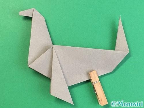 折り紙でアシカ(オットセイ)の折り方手順44