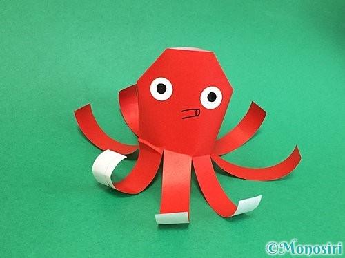 折り紙でタコの作り方手順17