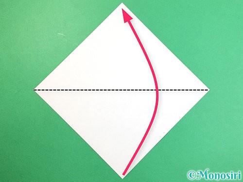 折り紙でクラゲの折り方手順1