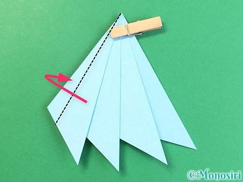 折り紙でクラゲの折り方手順27