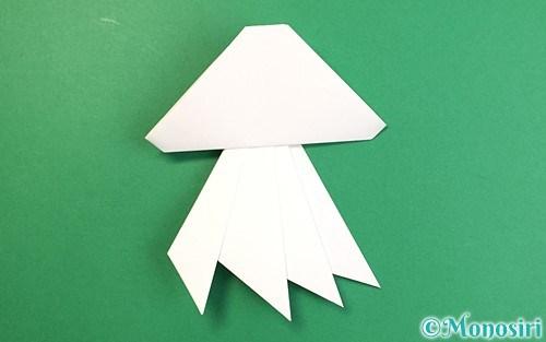 折り紙で折ったクラゲ