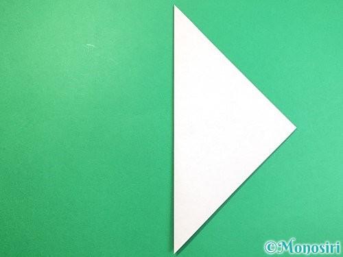 折り紙でラッコの折り方手順2