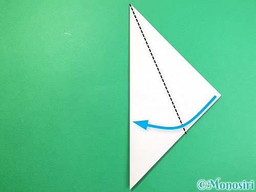 折り紙でラッコの折り方手順3