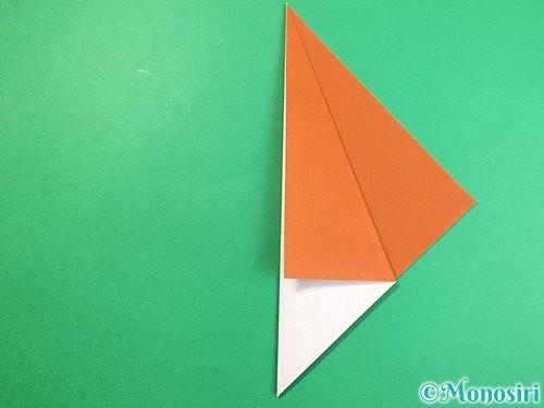 折り紙でラッコの折り方手順4