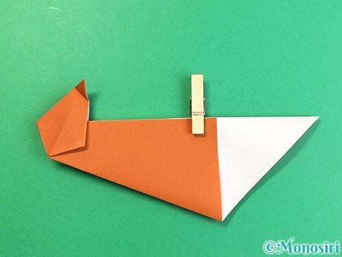 折り紙でラッコの折り方手順17