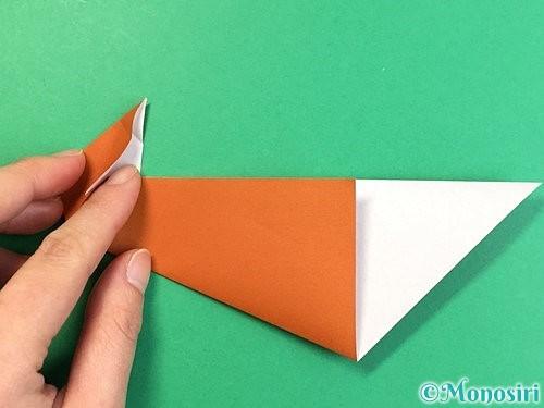 折り紙でラッコの折り方手順18