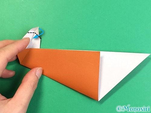 折り紙でラッコの折り方手順19