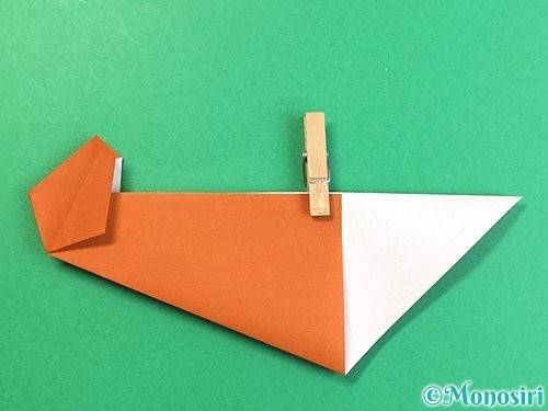 折り紙でラッコの折り方手順21